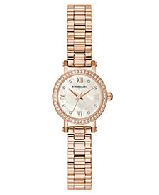 BCBG MaxAzria Ladies Rose GoldTone Bracelet Watch with Light MOP Dial, 24MM