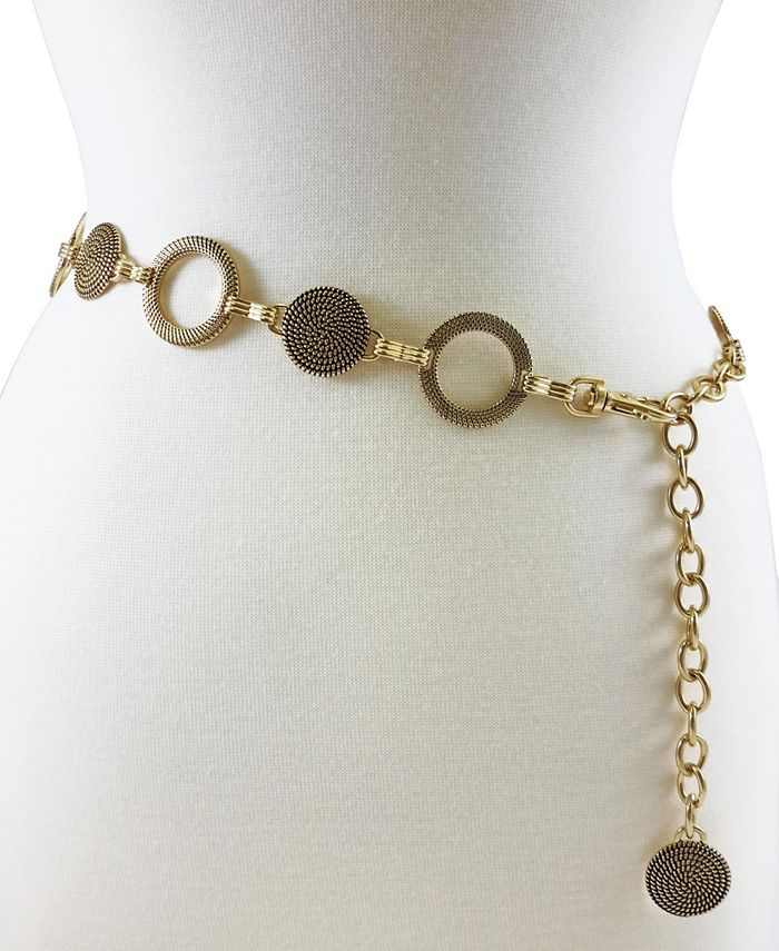 Fashion Focus - BRAIDED DISC and RIBBED CIRCLE CHAIN