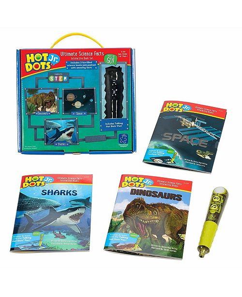 Learning Resources Educational Insights Hot Dots Jr Ultimate Science Facts Interactive Book Set With Pen
