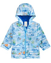 b5a55d6d7 First Impressions Baby Boys Sea Critter-Print Hooded Windbreaker Jacket,  Created for Macy's