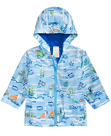 First Impressions Baby Boys Sea Critter-Print Hooded Windbreaker Jacket, Created for Macy's