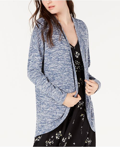 Hippie Rose Juniors' Marled Cardigan