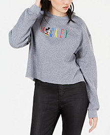 Modern Lux Juniors' Mickey Cropped Sweatshirt
