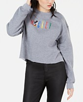 c78890f565 Modern Lux Juniors  Mickey Cropped Sweatshirt