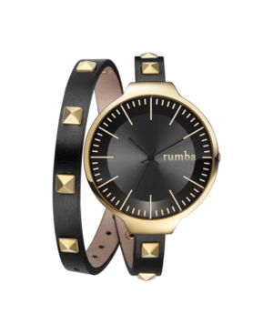RUMBATIME Rumbatime Orchard Double Wrap Lights Out Women'S Watch Black