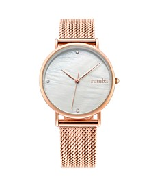 Lafayette Rose Gold Mesh Women's Watch