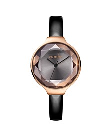 Orchard Gem Black Diamond Patent Leather Women's Watch
