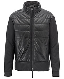 BOSS Men's Padded Leather Jacket