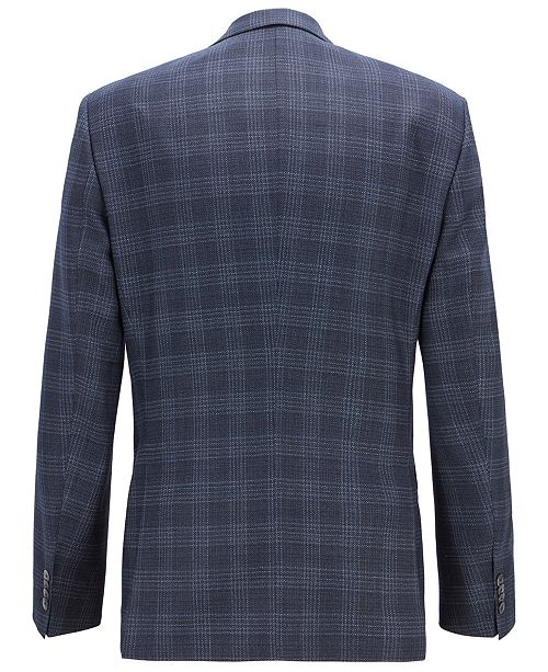 afd16e1313 Hugo Boss BOSS Men's Slim Fit Checked Virgin Wool Blazer ...