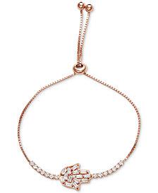 Tiara Cubic Zirconia Hamsa Hand Bolo Bracelet