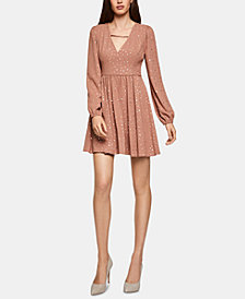 BCBGeneration Glitter Fit & Flare Dress