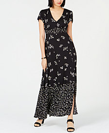 Bar III Floral-Print Empire-Waist Dress, Created for Macy's
