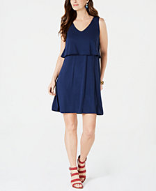 Style & Co Sleeveless Tiered Dress, Created for Macy's