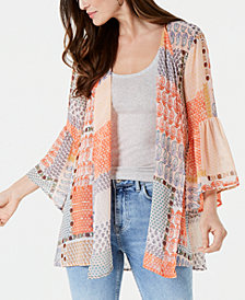 Style & Co Patchwork-Print Kimono, Created for Macy's
