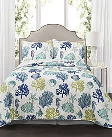Coastal Reef 3-Pc. Quilt Sets