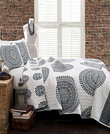 Shaila Medallion 3-Pc Set King Quilt Set