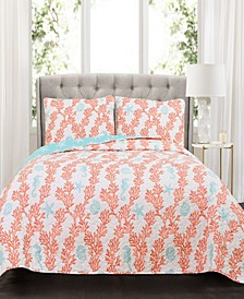 Dina  3-Pc Set Full/Queen Quilt Set