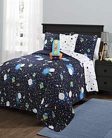 Universe Reversible 5-Piece Full/Queen Quilt Set
