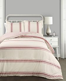 Farmhouse Stripe Reversible 3-Piece King Comforter Set