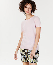Charter Club Cashmere Short-Sleeve Sweater, Created for Macy's