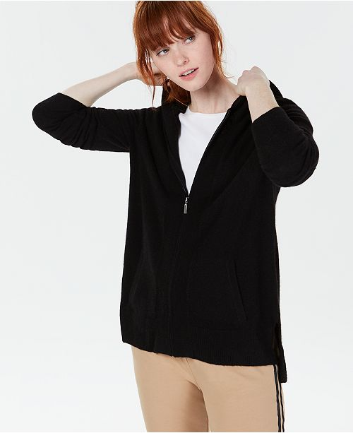 Charter Club Cashmere Zip-Front Hoodie, Regular & Petite Sizes, Created for Macy's