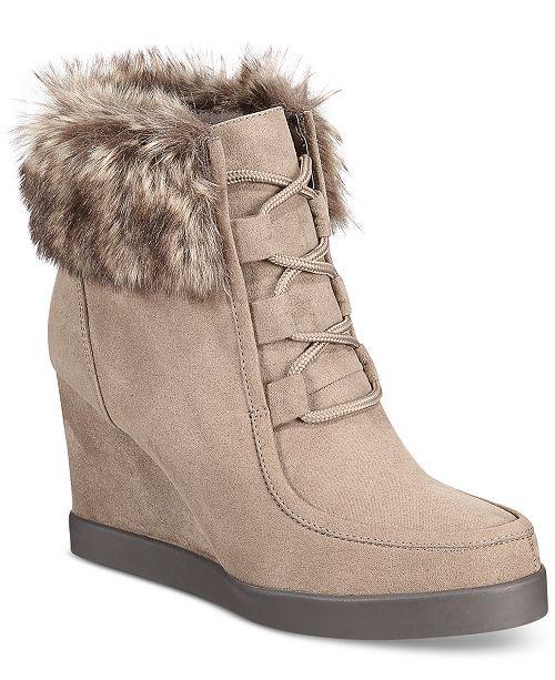3ba0ad17979e Esprit Felice Memory Foam Wedge Booties   Reviews - Boots - Shoes ...