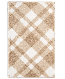 "CLOSEOUT! Plaid 19.3"" x 34"" Bath Rug, Created for Macy's"