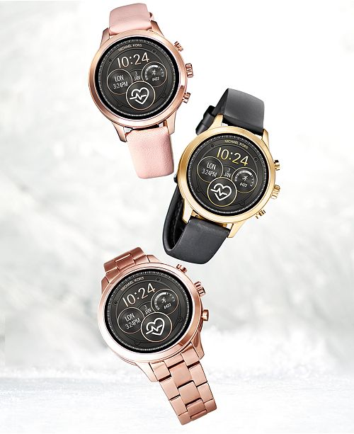 Michael Kors Access Unisex Runway Rose Gold Tone Stainless Steel