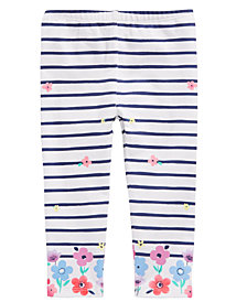 First Impressions Baby Girls Stripe & Flower Leggings, Created for Macy's