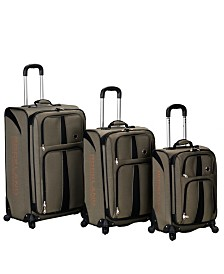 Rockland Eclipse 3PCE Softside Spinner Luggage Set