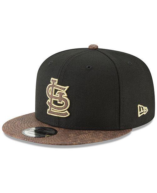 2bae5e06e530 New Era St. Louis Cardinals Gold Snake 9FIFTY Snapback Cap - Sports ...