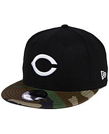 New Era Cincinnati Reds Woodland Black/White 9FIFTY Snapback Cap