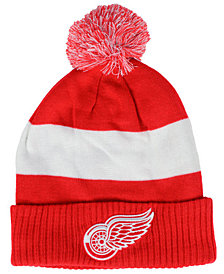 Authentic NHL Headwear Detroit Red Wings Alternate Jersey Cuffed Pom Knit Hat