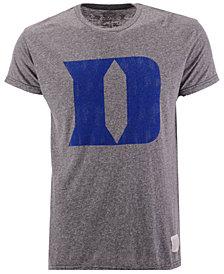 Retro Brand Men's Duke Blue Devils Retro Logo Tri-blend T-Shirt
