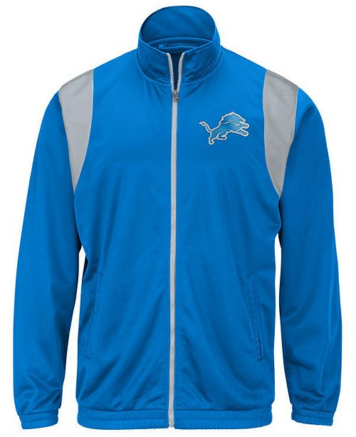 G-III Sports Men's Detroit Lions Clutch Time Track Jacket