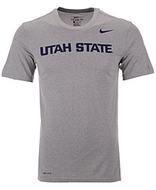 Nike Men's Utah State Aggies Dri-Fit Legend Wordmark T-Shirt
