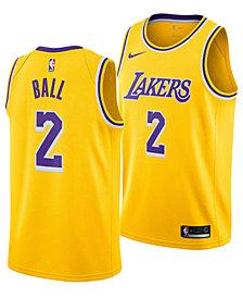 Nike Men's Lonzo Ball Los Angeles Lakers Icon Swingman Jersey