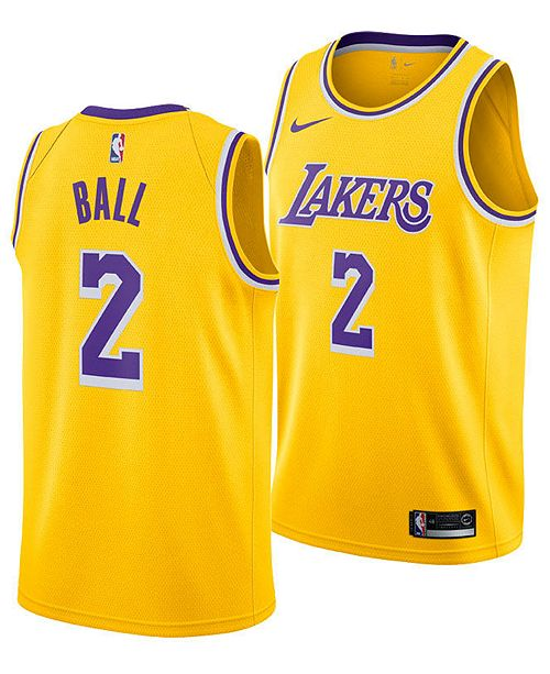 newest collection 9acd2 1555b Men's Lonzo Ball Los Angeles Lakers Icon Swingman Jersey