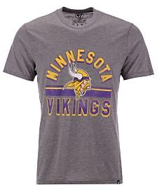 '47 Brand Men's Minnesota Vikings Team Stripe Match Tri-blend T-Shirt
