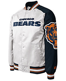 G-III Sports Men's Chicago Bears Starter Dugout Championship Satin Jacket