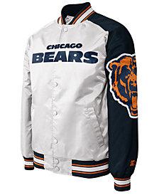G-III Sports Men's Chicago Bears Starter Dugout Championship Satin Jacket