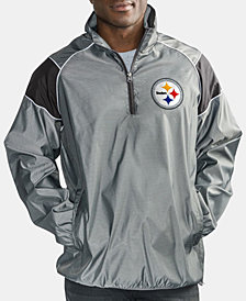 G-III Sports Men's Pittsburgh Steelers Fade Player Lightweight Pullover Jacket
