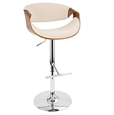 Curvo Adjustable Barstool with Swivel