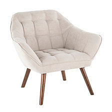 Lumisource Boulder Accent Chair in Fabric