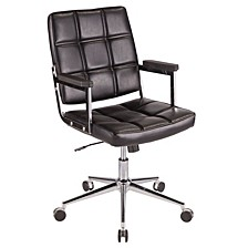 Bureau Office Chair with Metal and Faux Leather
