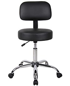 Adjustable Caressoft Medical Stool W/ Back Cushion