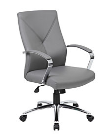 Boss Office Products Executive Chair with Chrome Finish