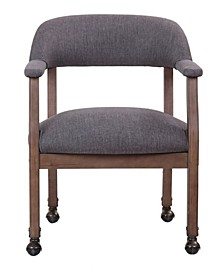 Modern Captain's Accent Chair with Casters
