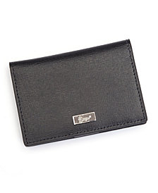 Royce RFID Blocking ID Card Case Wallet in Saffiano Leather
