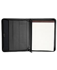 Royce Executive Convertible Zippered Writing Portfolio Organizer in Genuine Leather